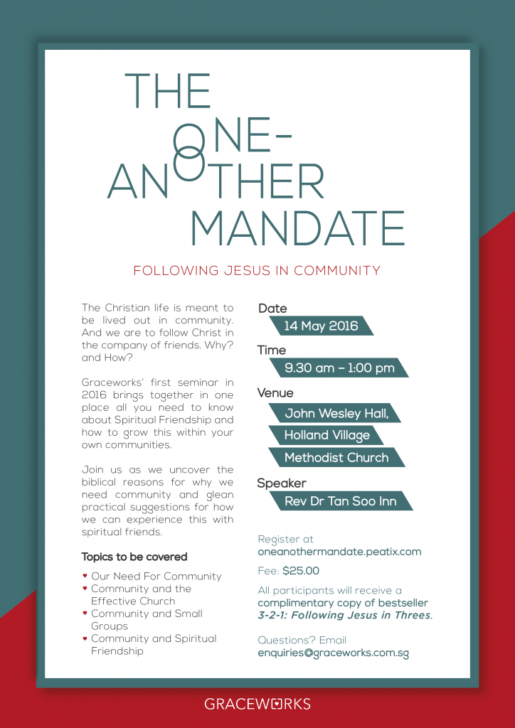 The One-Another Mandate @ John Wesley Hall, Holland Village Methodist Church | Singapore | Singapore